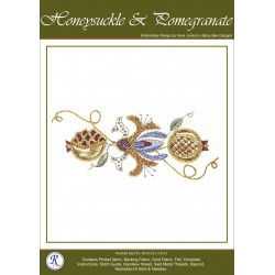 Honeysuckle & Pomegranites Goldwork Kit
