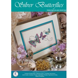 Silver Butterflies Goldwork Kit