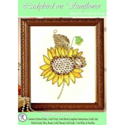Ladybird On Sunflower Goldwork Kit