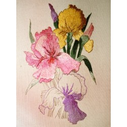 Irises Goldwork Kit